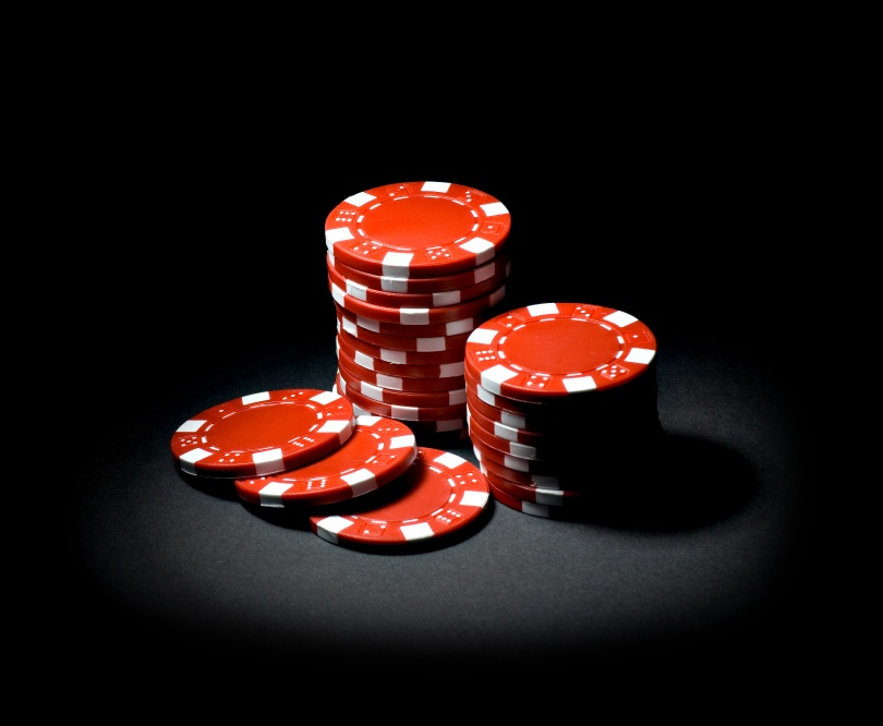 Dying poker chips